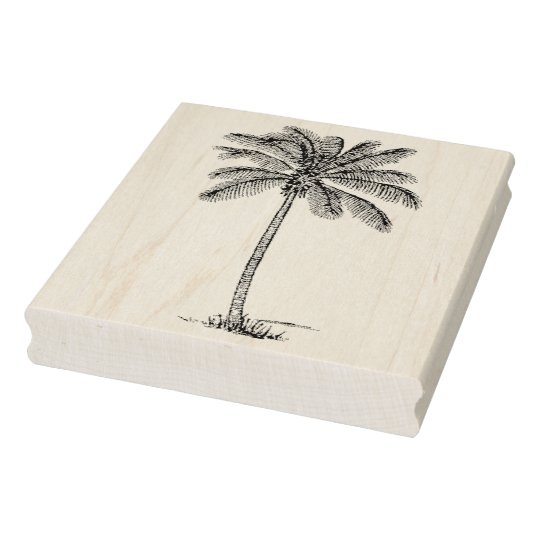 Vintage Palm Tree Rubber Art Stamp