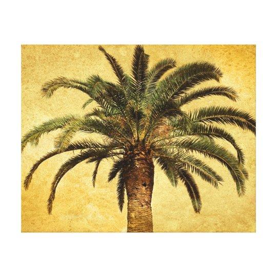 Vintage Palm Tree - Tropical Customised Template Canvas