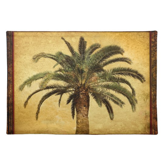 Vintage Palm Tree - Tropical Customised Template Place Mats