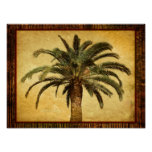 Vintage Palm Tree - Tropical Customised Template Posters