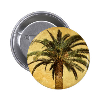 Vintage Palm Tree - Tropical Customized Template 6 Cm Round Badge