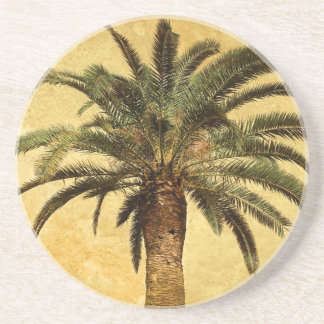 Vintage Palm Tree - Tropical Customized Template Coaster
