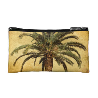 Vintage Palm Tree - Tropical Customized Template Cosmetic Bags