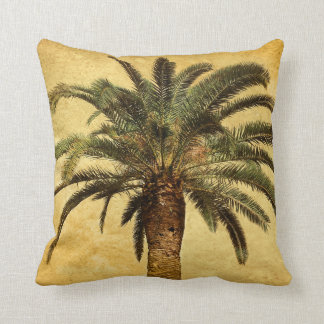 Vintage Palm Tree - Tropical Customized Template Throw Cushion