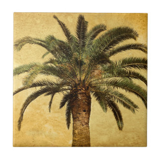 Vintage Palm Tree - Tropical Customized Template Tile