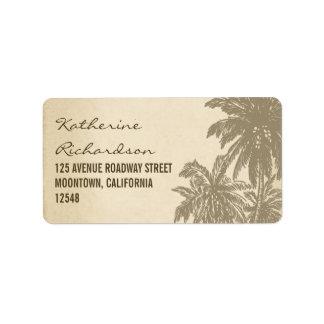 vintage palms address labels