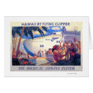Vintage Pan American Travel Poster - Hawaii Card