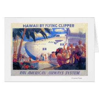 Vintage Pan American Travel Poster - Hawaii Greeting Card
