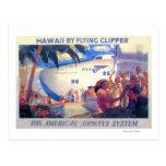 Vintage Pan American Travel Poster - Hawaii Postcards