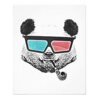 Vintage panda 3-D glasses 11.5 Cm X 14 Cm Flyer