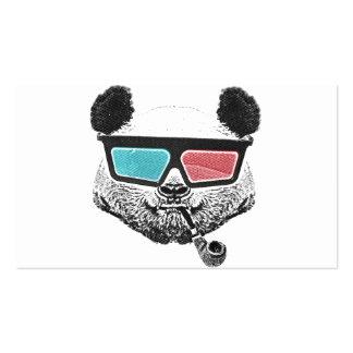 Vintage panda 3-D glasses Pack Of Standard Business Cards