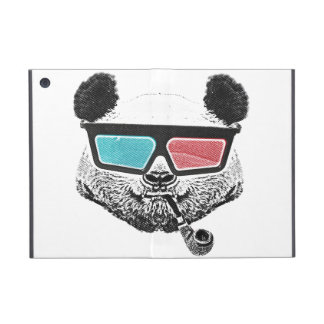 Vintage panda 3-D glasses Case For iPad Mini