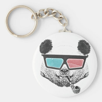 Vintage panda 3-D glasses Key Ring