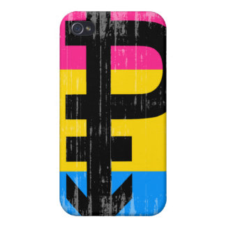 Vintage Pansexual Flag iPhone 4 Case