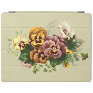 Vintage Pansies Bouquet iPad Cover