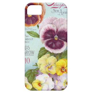 Vintage Pansies Case For The iPhone 5
