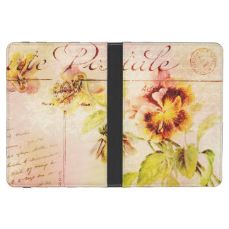 Vintage pansy flower feminine girls kindle 4 cover