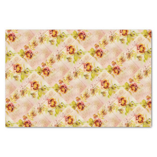 """Vintage pansy flower for women 10"""" x 15"""" tissue paper"""