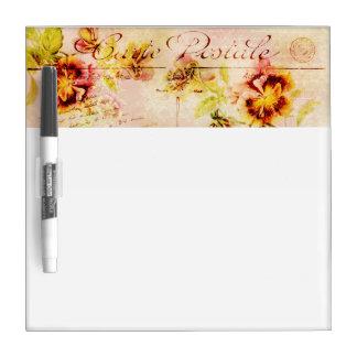 Vintage pansy flower postcard Dry-Erase boards