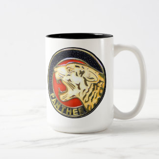 Vintage Panther Motorcycles Badge Two-Tone Coffee Mug