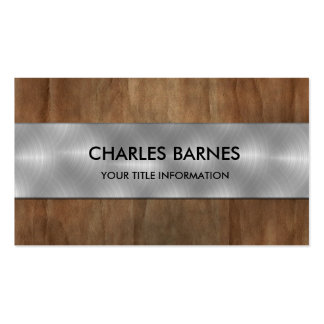 Vintage Papaer and Steel Business Card