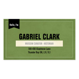 Vintage Paper and Ribbon - Green Business Card
