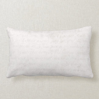 Vintage Paper Antique French Script Writing Blank Pillow