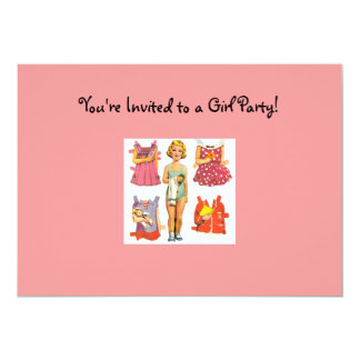Vintage Paper Doll Invitations