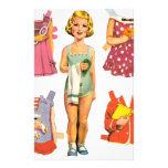 Vintage Paper Dolls Custom Stationery