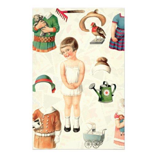 Vintage Paper Dolls Stationery