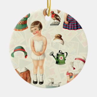 Vintage Paper Dolls Tree Ornament