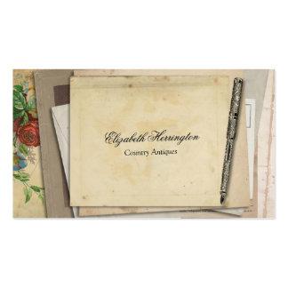 Vintage Paper Ephemera Antique Fountain Pen Business Cards
