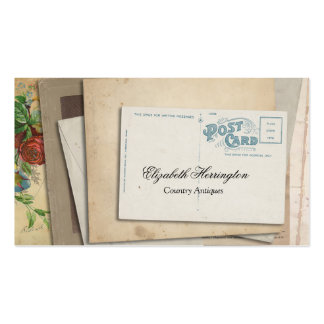 Vintage Paper Ephemera Post Card Business Card Template