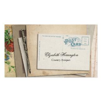 Vintage Paper Ephemera Post Card Fountain Pen Business Card Templates