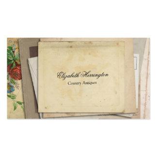 Vintage Paper Ephemera Stacked Antique Looks Business Cards