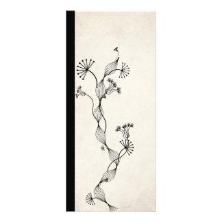 vintage paper flower bookmark customised rack card