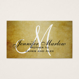 Vintage Paper Monogram Mommy Calling Card