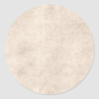 Vintage Paper Parchment Paper Template Blank Classic Round Sticker