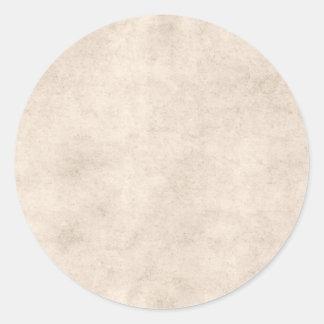Vintage Paper Parchment Paper Template Blank Round Sticker