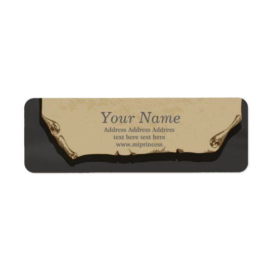 vintage paper  return address stickers