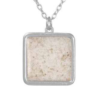 Vintage paper texture bugged silver plated necklace