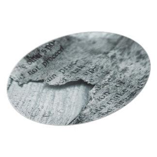 Vintage paper Torn Plates