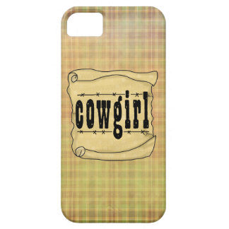 Vintage Paper w/Scroll Cowgirl Case-Mate iPhone 5 Barely There iPhone 5 Case