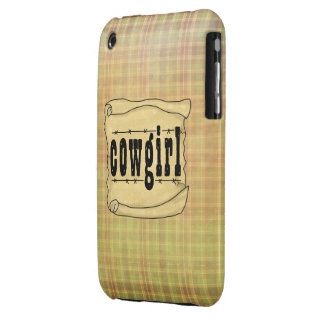 Vintage Paper w/Scroll Cowgirl iPhone Case 3G/3GS