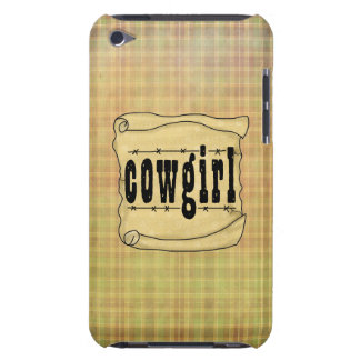 Vintage Paper w/Scroll Cowgirl iPod Touch iPod Touch Case-Mate Case
