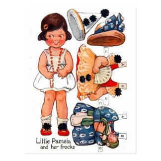 Vintage Paperdoll Little Girl Pamela Postcard