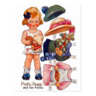 Vintage Paperdoll Little Girl Peggy Postcard