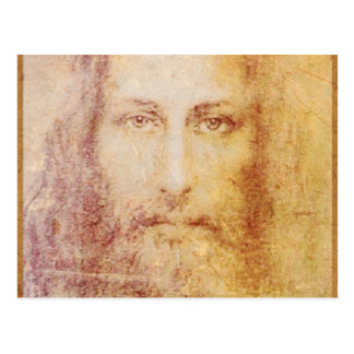 vintage papyrus portrait of Jesus Christ healing Postcard