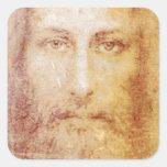 vintage papyrus portrait of Jesus Christ healing Stickers
