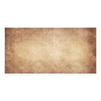 Vintage Parchment Antique Paper Background Custom Custom Photo Card